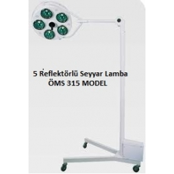 Seyyar 5 Reflektörlü Ameliyat Lambası